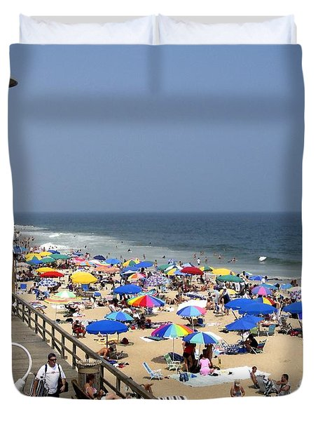 Good Beach Day At Bethany Beach In Delaware Duvet Cover