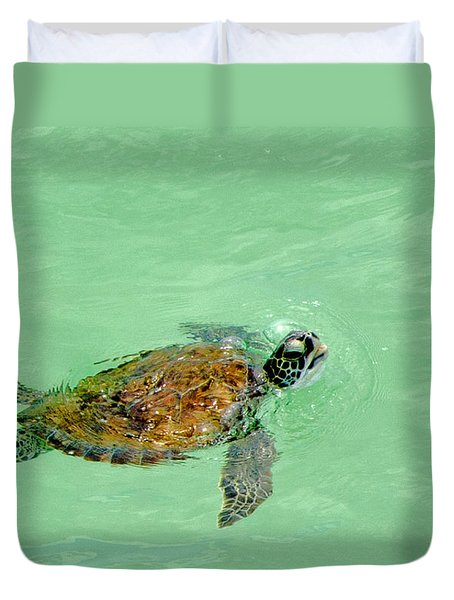 Duvet Cover featuring the photograph Good Day For A Swim  by Susan  McMenamin