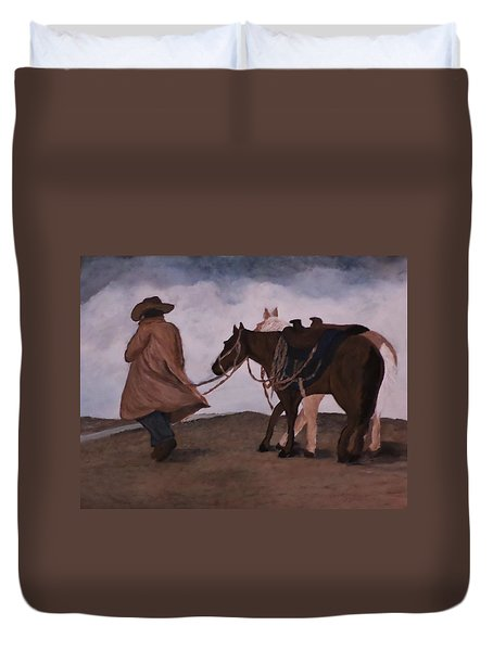 Good Day For A Walk Duvet Cover by Christy Saunders Church