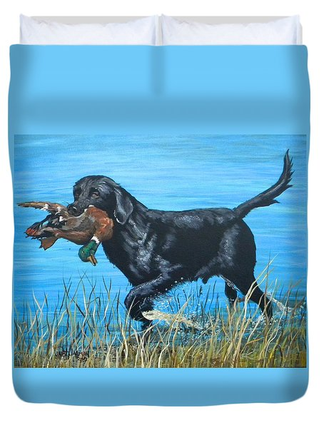 Good Dog Duvet Cover by Jeanette Jarmon