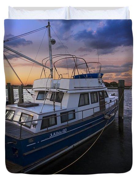 Good Fishing Duvet Cover by Debra and Dave Vanderlaan