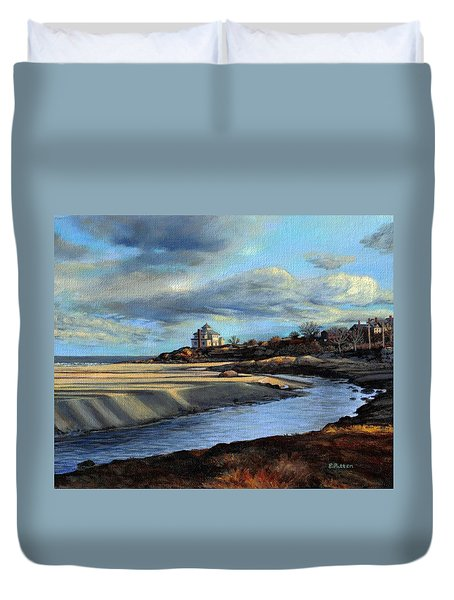 Good Harbor Beach Gloucester Duvet Cover by Eileen Patten Oliver