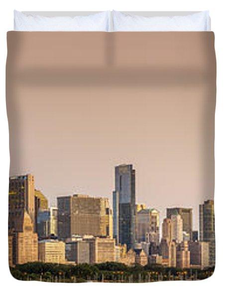 Good Morning Chicago Duvet Cover by Sebastian Musial