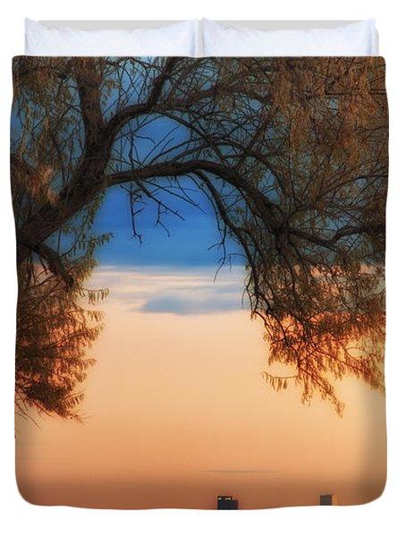 Good Morning Denver Duvet Cover by Darren  White