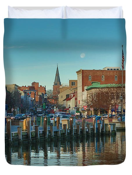 Good Morning Downtown Duvet Cover