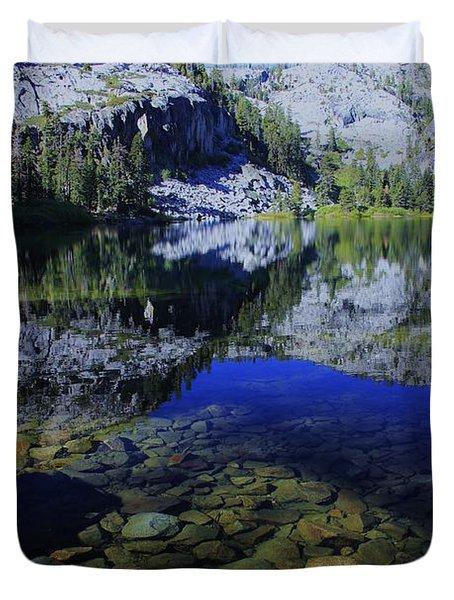 Good Morning Eagle Lake Duvet Cover