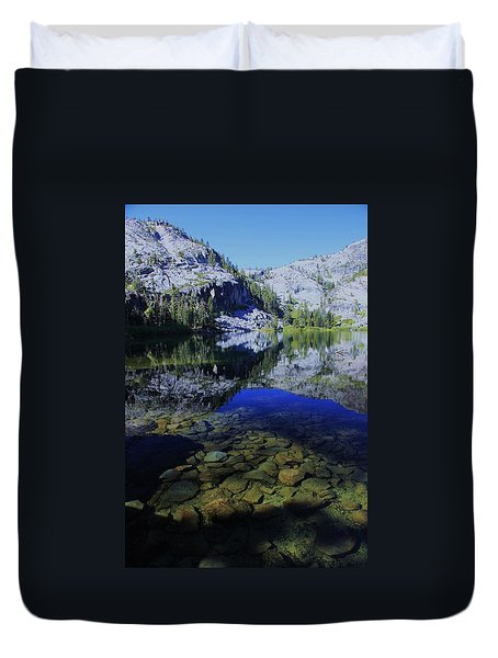 Good Morning Eagle Lake Duvet Cover by Sean Sarsfield