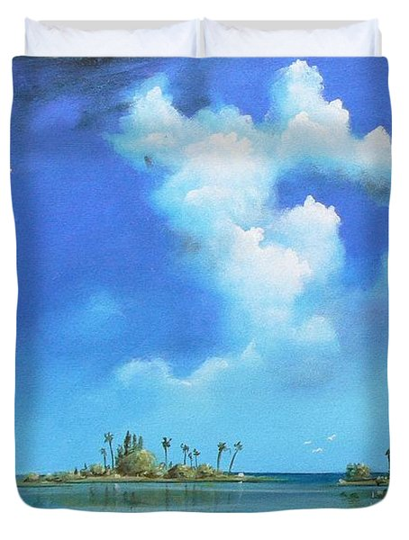 Good Morning Florida Duvet Cover