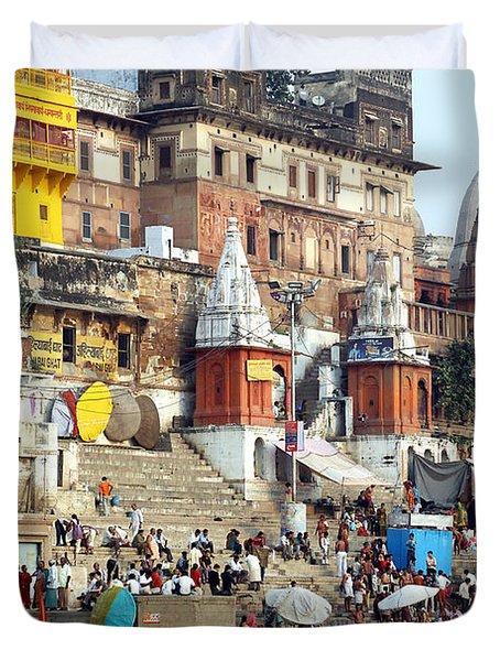 Good Morning Ganga Ji 2 Duvet Cover