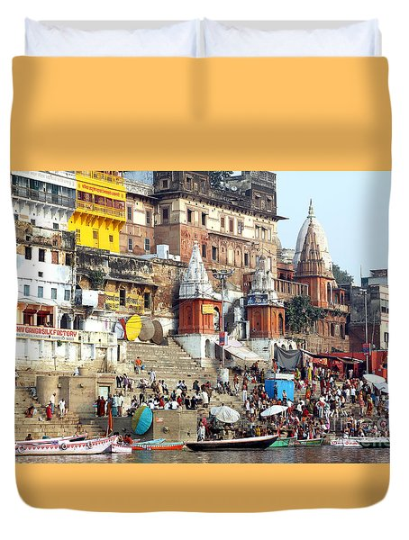 Good Morning Ganga Ji 2 Duvet Cover