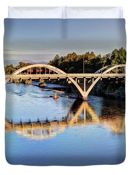 Good Morning Grants Pass II Duvet Cover by Heidi Smith