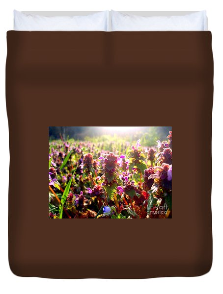 Duvet Cover featuring the photograph Good Morning by Nina Ficur Feenan