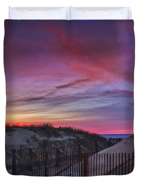Good Night Cape Cod Duvet Cover by Susan Candelario