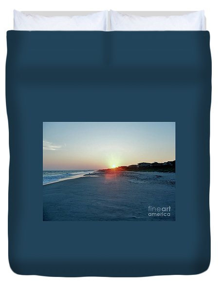 Duvet Cover featuring the photograph Good Night Day by Roberta Byram