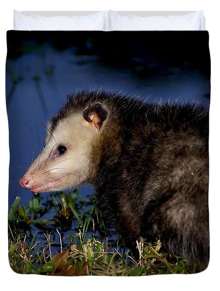 Duvet Cover featuring the photograph Good Night Possum by Olga Hamilton