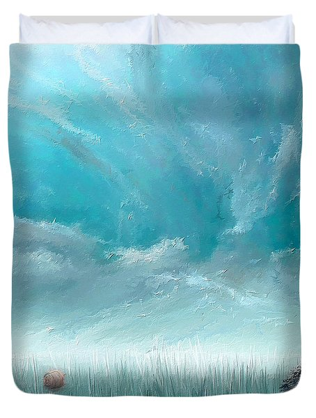 Good Ole Days- Turquoise Art Duvet Cover