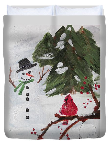 Good Tidings Duvet Cover