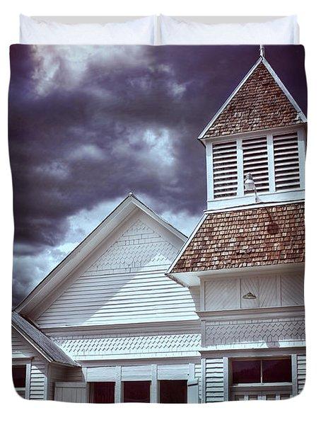 Good Vs Evil Duvet Cover by Ellen Heaverlo
