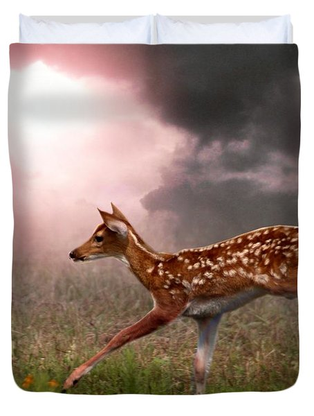Goodbye Bambi Duvet Cover by Bill Stephens