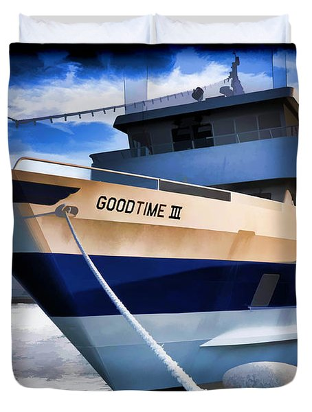 Duvet Cover featuring the photograph Goodtime IIi - Cleveland Ohio by Mark Madere