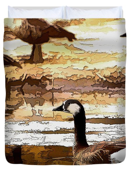 Goose Abstract Duvet Cover