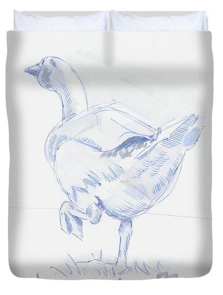 Goose Walking Duvet Cover