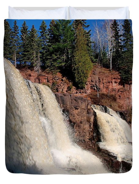 Gooseberry Falls Duvet Cover by James Peterson