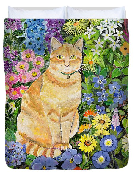 Gordon S Cat Duvet Cover by Hilary Jones