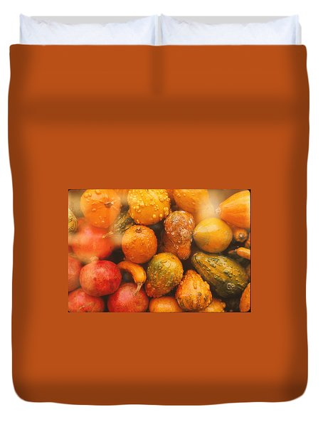 Duvet Cover featuring the photograph Gorgeous Gourds by Ira Shander