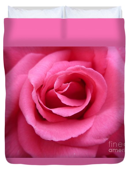 Duvet Cover featuring the photograph Gorgeous Pink Rose by Vicki Spindler