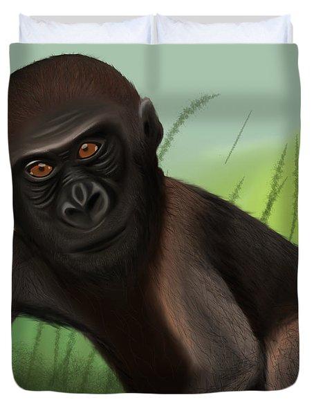 Gorilla Greatness Duvet Cover