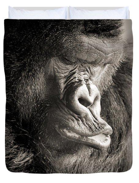 Gorilla Poses IIi Duvet Cover