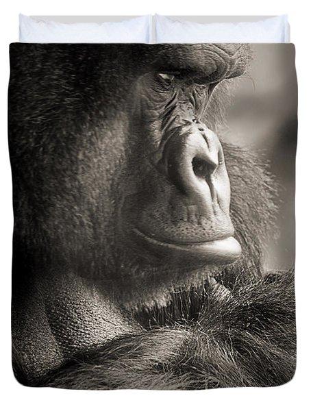 Gorilla Poses Iv Duvet Cover