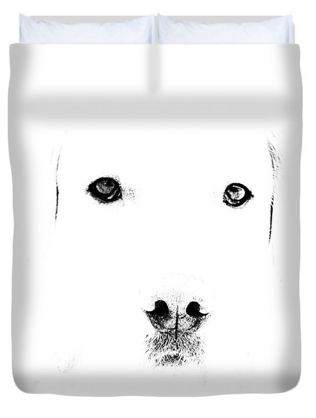 Dog Face Duvet Cover by Mike Santis