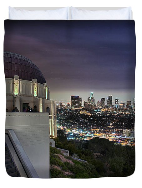 Gotham Griffith Observatory Duvet Cover