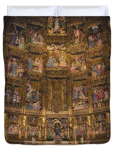 Gothic Altar Screen Duvet Cover by Joan Carroll
