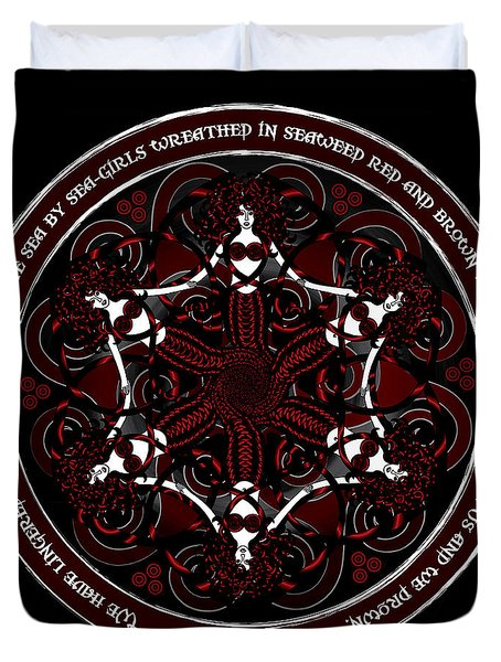 Gothic Celtic Mermaids Duvet Cover