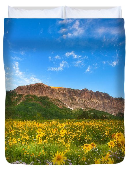 Gothic Meadow Duvet Cover by Darren  White