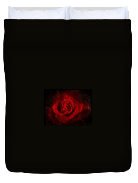Gothic Red Rose Duvet Cover by Absinthe Art By Michelle LeAnn Scott