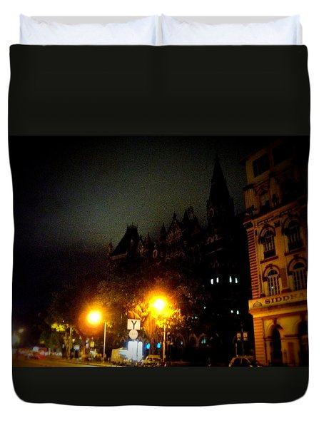 Duvet Cover featuring the photograph Gothic Skyline by Salman Ravish