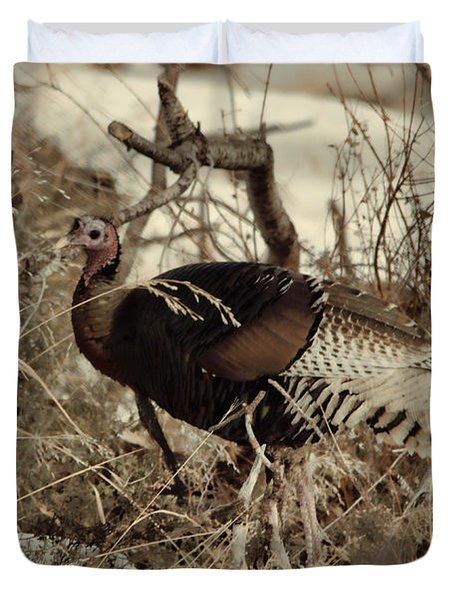 Gould's Wild Turkey Xii Duvet Cover
