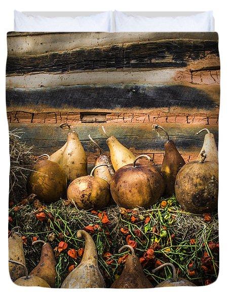 Gourds Duvet Cover by Debra and Dave Vanderlaan
