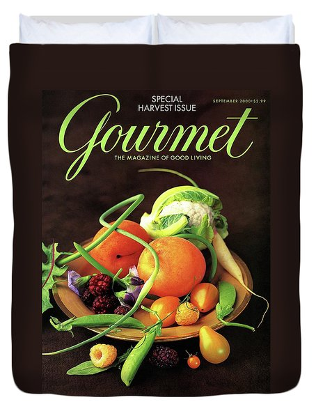 Gourmet Cover Featuring A Variety Of Fruit Duvet Cover