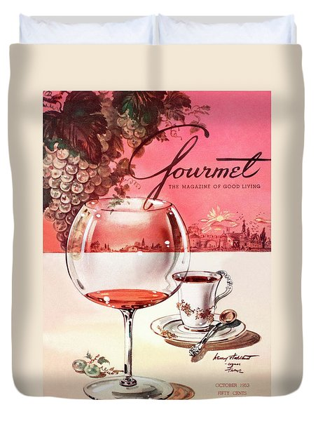 Gourmet Cover Illustration Of A Baccarat Balloon Duvet Cover by Henry Stahlhut