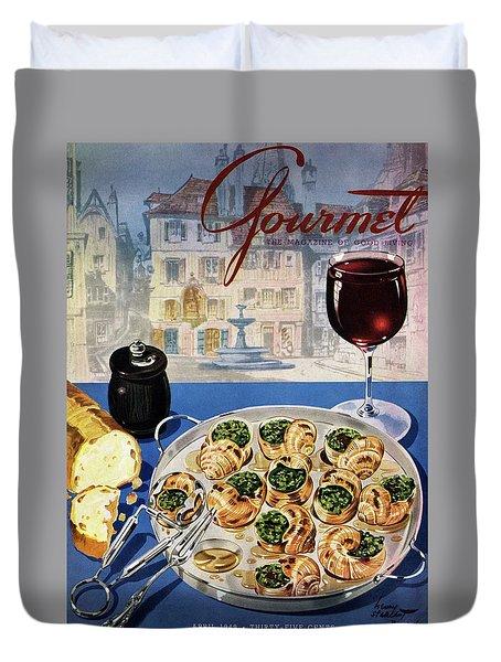 Gourmet Cover Illustration Of A Platter Duvet Cover by Henry Stahlhut