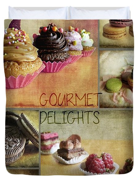 Gourmet Delights - Collage Duvet Cover by Barbara Orenya