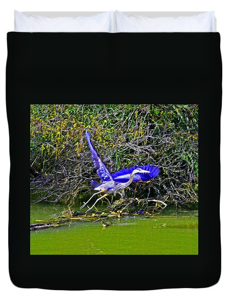 Gr8 Heron Flight Duvet Cover
