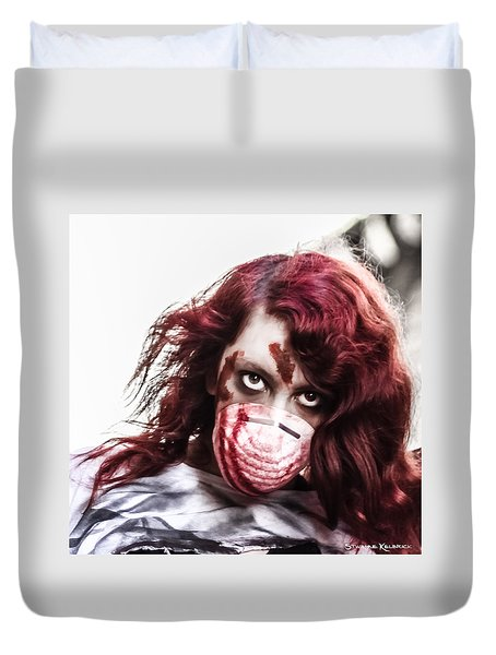 Duvet Cover featuring the photograph Grab And Destroy by Stwayne Keubrick