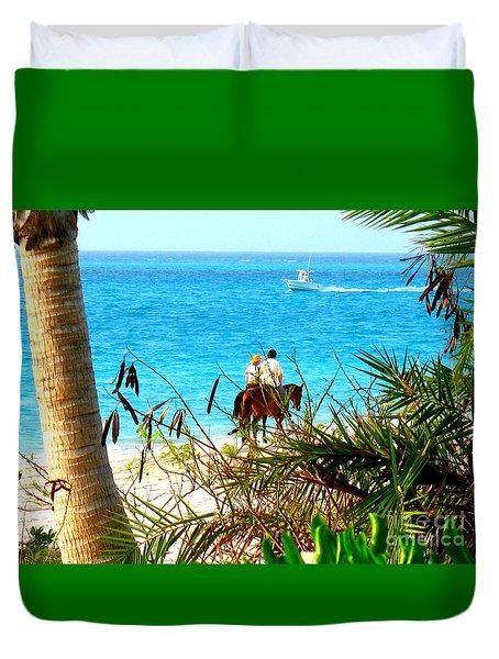 Grace Bay Riding Duvet Cover by Patti Whitten