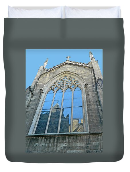 Duvet Cover featuring the photograph Grace Episcopal Church Nyc by Emmy Marie Vickers